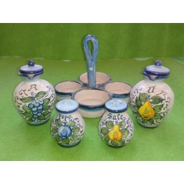 Set per condimenti ceramica