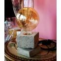 Lampada da tavolo Linea Cubo Cemento
