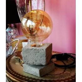 Lampada da tavolo Linea Cemento