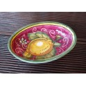 Hand-decorated Tuscan ceramic soap dish