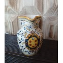Cruche en céramique toscane, décorée à la main