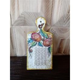 Grattugia in ceramica decorata