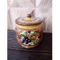Gewürzglas mit Deckel aus toskanischer Keramik