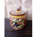 Spice jar with lid in Tuscan ceramic