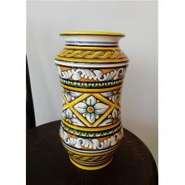 Ceramic vase hand-decorated