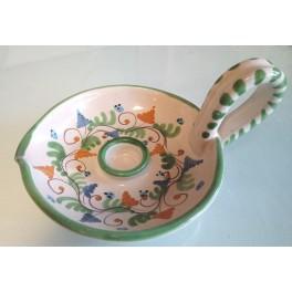 Bugia in ceramica decorata