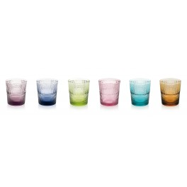 SPEEDY Set 6 water glassed 28cl - assorted colours (IVV)