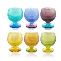 MULTICOLOR Set 6 cups for ice-cream 43cl - assorted colours (IVV)