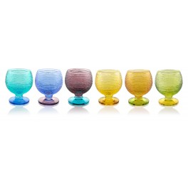 MULTICOLOR Set 6 water glasses 30cl - assorted colours (IVV)