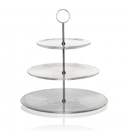 VERTIGO Cake stand 3glass tops - IVV