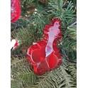 Set 5 pezzi addobbi natalizi rossi