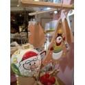Palline di natale in ceramica decorata a mano