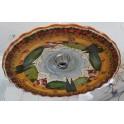 Keramikplatte in toskanischer Landschaft