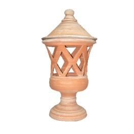 Coprilampada a rombi in terracotta