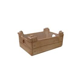 Rechteckige Terrakottavase in Form einer Obstbox