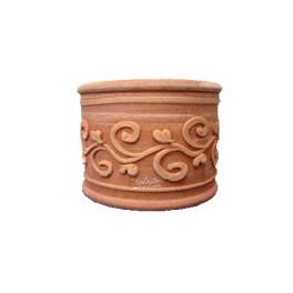 Cylindrical claypot, handmade in Tuscany