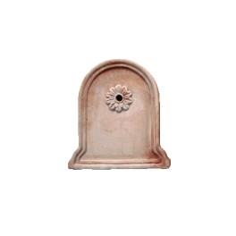 Wall panel in terracotta (mod. 276R with rose)